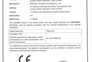 TL-403CB CE Certificate