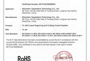 TL-A4-A3 ROHS Certificate